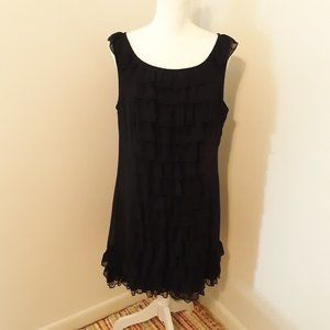 xhilaration Black Ruffle Dress Size XXL